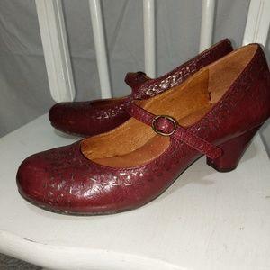Cherry Anthropologie Naya Mary Jane Heels